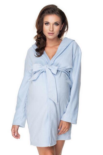 Szlafrok dla kobiet w ciąży polar Lottie niebieski
