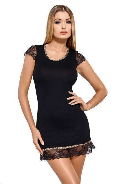 Luksusowa koszula z wiskozy Roxy czarna