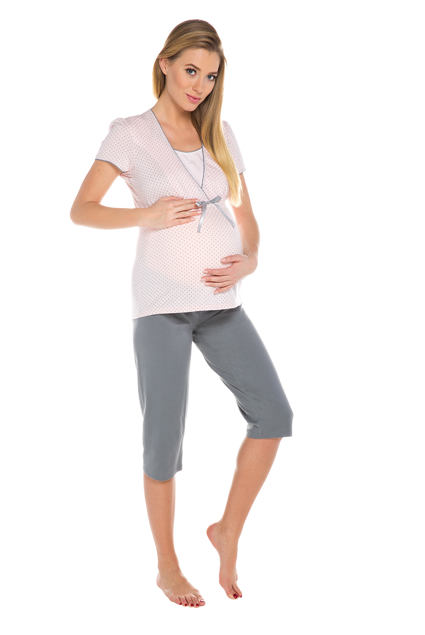 Piżama ciążowa i do karmienia piersią Felicita różowa