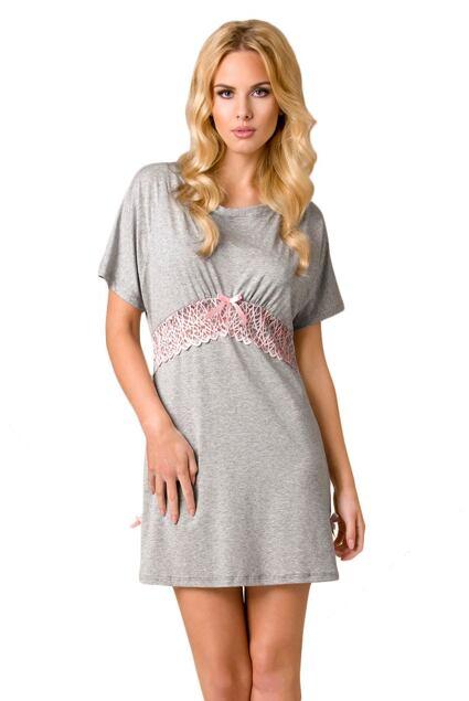 Luksusowa damska koszula nocna Zoe jasnoszara