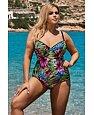 Jednoczęściowy damski strój kąpielowy Shannon kolorowy